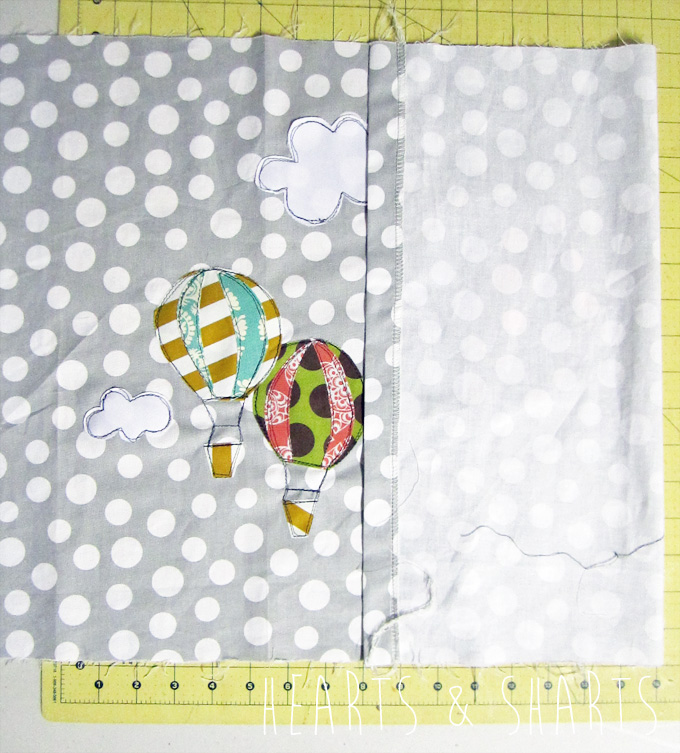 Handmade Gifts: Hot Air Balloon Pillow Cover
