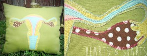 Handmade Gifts: Hot Air Balloon Pillow - Hearts & Sharts