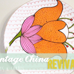 Cheap & Easy Wall Art: Vintage China Revival
