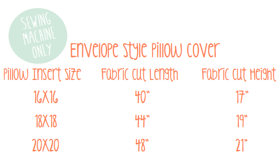 Super Easy Pillow Cover
