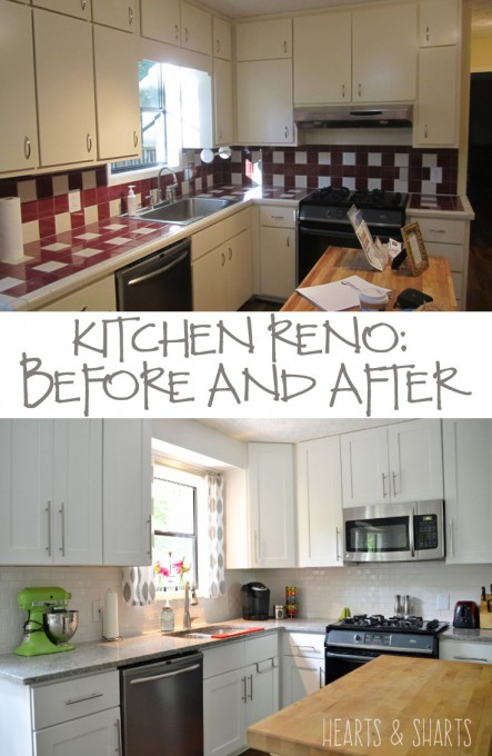 Another home reno before and after hearts sharts for Home renos before and after