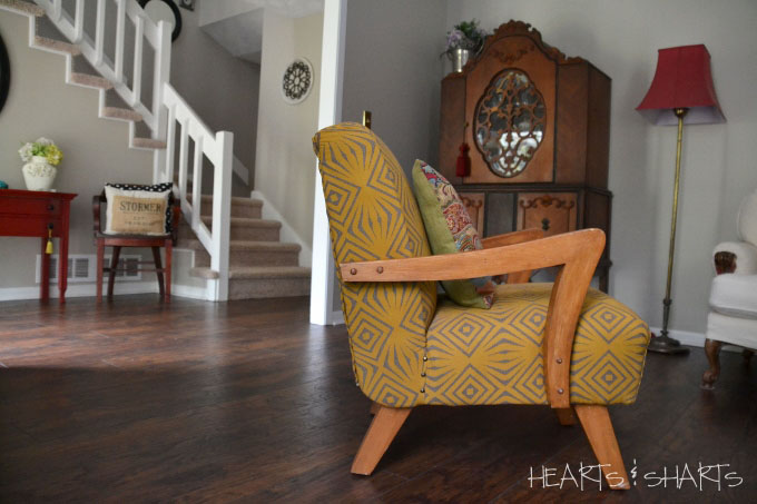 vintage-chair-reupholstered-room-makeover