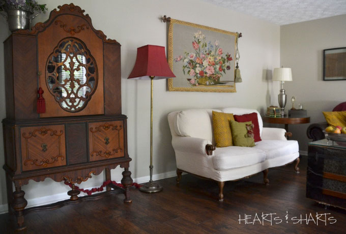 vintage-china-hutch-room-makeover