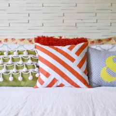 Graphic Painted Pillow | Hearts & Sharts | www.heartsandsharts.com