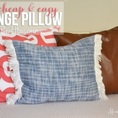 Easy Fringe Pillow