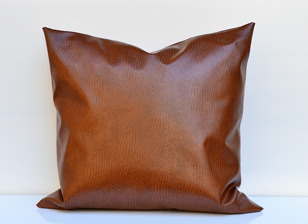 Faux Leather Pillow | Hearts & Sharts