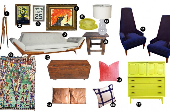 Living Room Makeover with Chairish