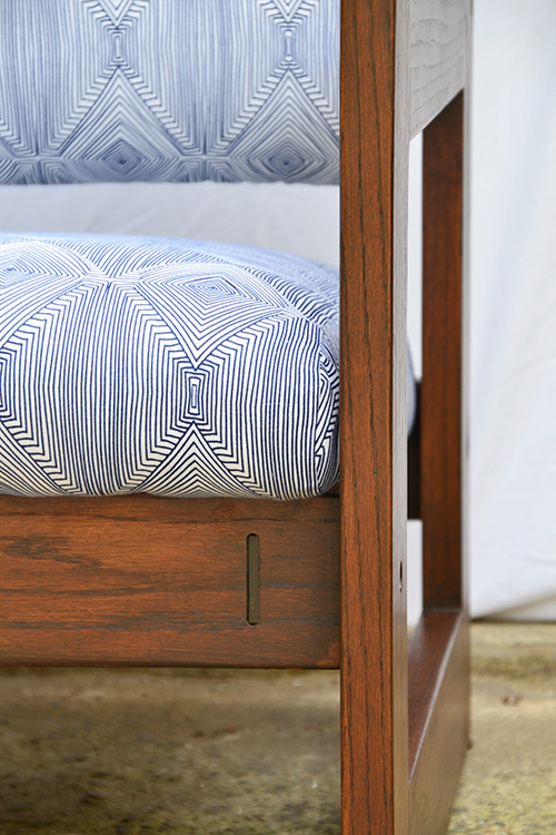 Danish Chair Makeover ||General Finishes Stain and Nate Berkus Fabric ||Hearts & Sharts