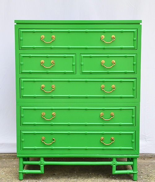 Bamboo Dresser - Before & After    Hearts & Sharts
