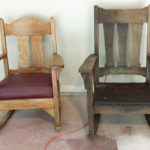 His & Hers Antique Rockers | Before and After || Hearts & Sharts