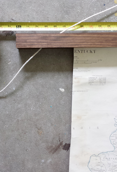 diy-vintage-large-map-frame