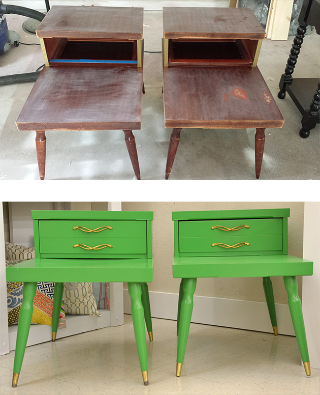 Painted End Tables || Hearts & Sharts