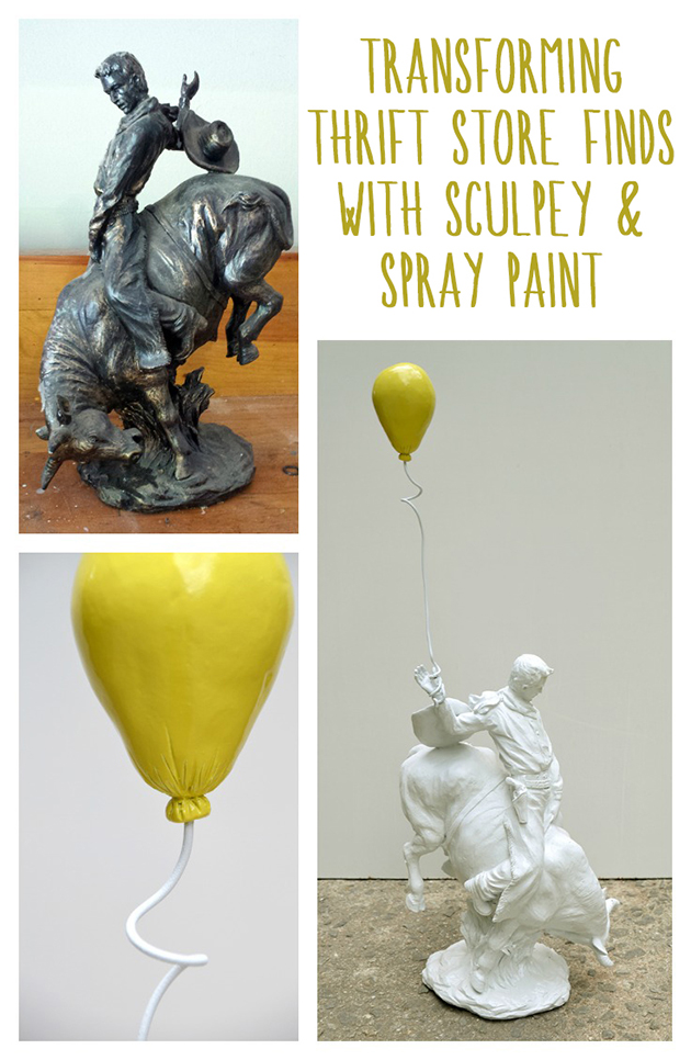 Transforming Thrift Store Finds with Sculpey and Rustoleum || Hearts & Sharts || heartsandsharts.com