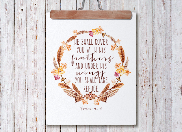 Free Printable || Psalm 91 || Hearts & Sharts